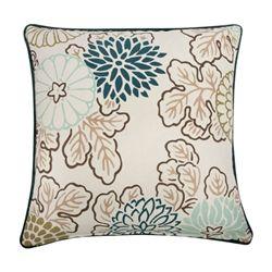 Kimono Pillow in Aqua.  Hand silk-screened.  Design by thomaspaul.