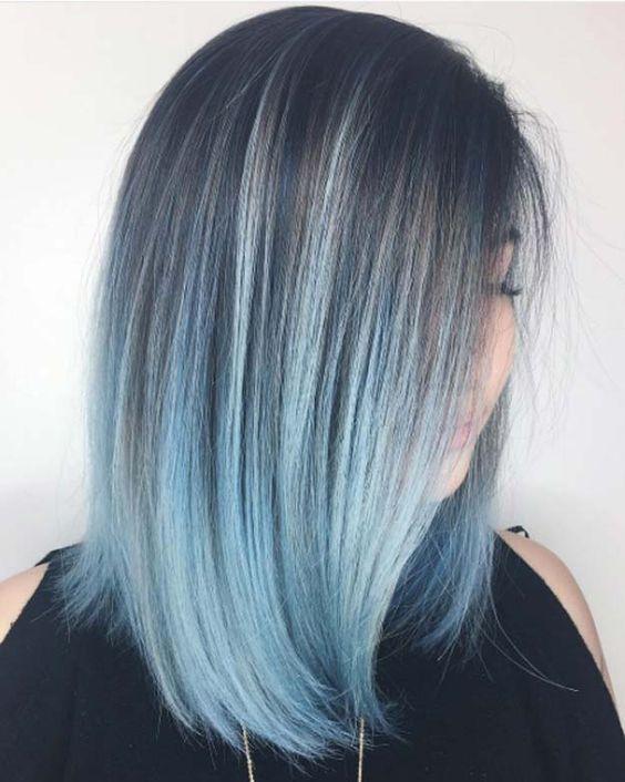 Blue Hair 30 Blue Hair Color Ideas Light Blue Hair Medium Hair