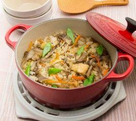 鶏肉と根菜の中華風炊き込みご飯の作り方