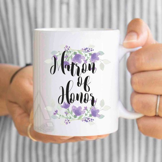 maid of honor gifts, gifts for maid of honor, matron of honor gift ideas, matron of honor gifts for sister, gifts from bride mug MU261 by artRuss on Etsy