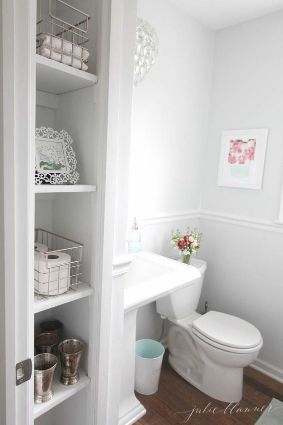 Half bath metals basement bathroom and closet - Diy bathroom remodel before and after ...