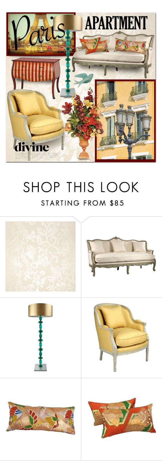 """belle maison"" by collagette ❤ liked on Polyvore featuring interior, interiors, interior design, home, home decor, interior decorating, Designers Guild, WALL, La Vie en Rose and parisapartment"