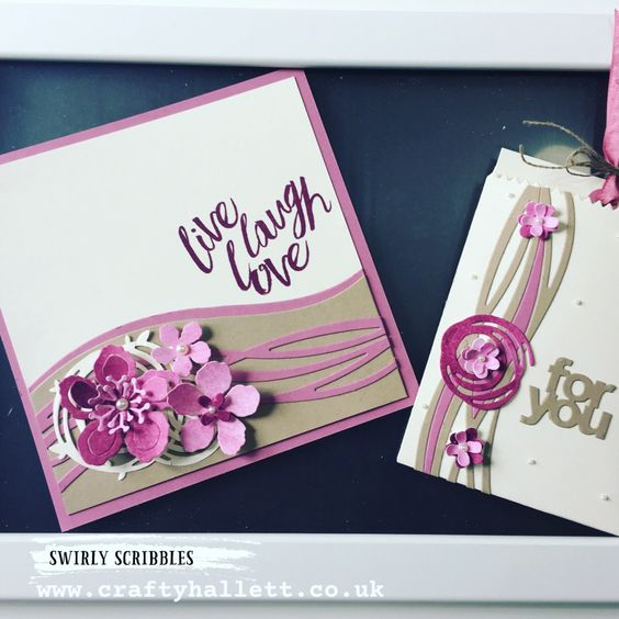 Stampin' Up! Swirly Bird, scribbles, Botanical Blooms, builder, sweet sugarplum: