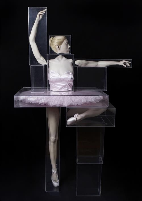 Monica Piloni, 'Ballet Dancer.'  Resin,acrylic and boxes.: