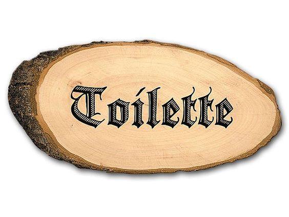 Toilettenschild aus Holz in ovaler Form - Hausnummern, Türschilder, Firmenschilder, Straßenschilder, Parkplatzschilder und Kenzeichenhalter günstig im Schildershop24 kaufen