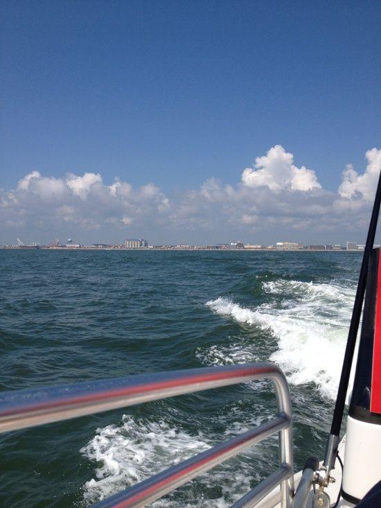 Ocean city Maryland, parasailing boat.