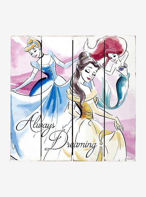 Disney Princess Wood Panel Wall Art Princess Wall Art Panel Wall Art Art