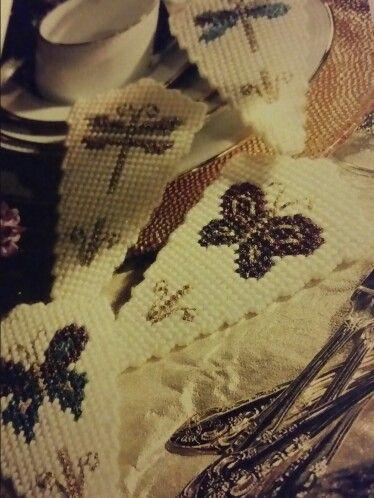 Winged wonders napkin cuffs