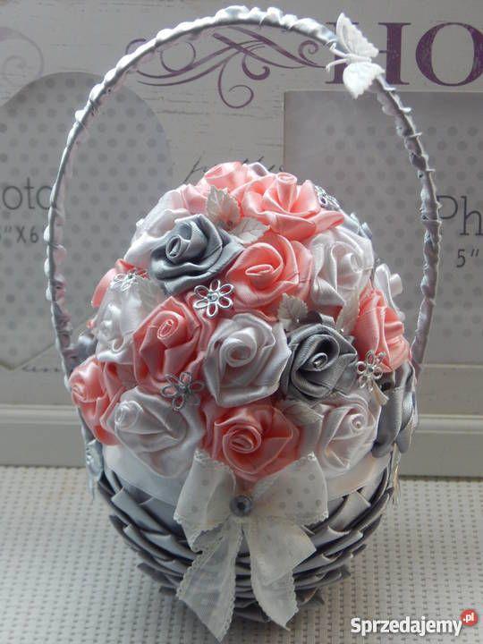 Koszyczek Ze Wstazek Rekodzielo Na Rozne Okazje Wielokolorowy Skoki Easy Crafts For Teens Quilted Ornaments Crafts For Teens