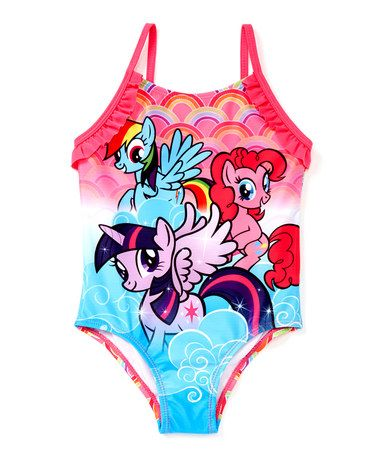 Look what I found on #zulily! Hot Pink & Aqua My Little Pony One-Piece - Toddler #zulilyfinds