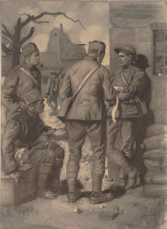 O To Ww Bing Comsquare Root 123: The Story Of The Wounded Soldier 1918 By Lucien Jonas