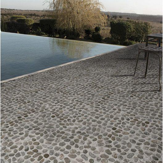 Carrelage ext rieur piedra en gr s c rame maill gris for Carrelage exterieur 10x20