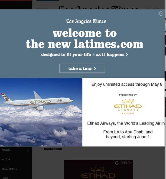 LA Times redesign