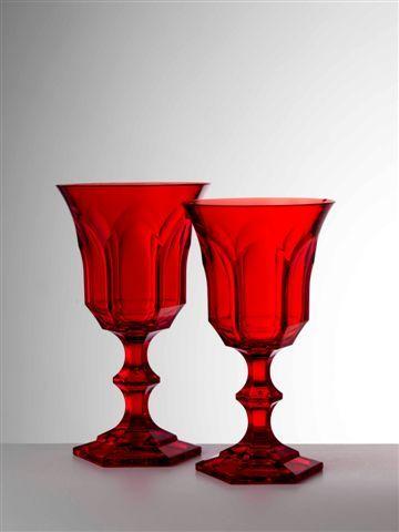 It's plastic! ;) Mario Luca Giusti Red Victoria & Albert Water and Wine Glasses