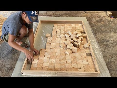 Amazing Best Design Idea Woodworking Projects How To Building A Large Workbench With Square Blocks Youtube Woodworking Woodworking Projects Workbench