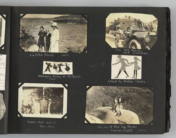 """Unknown photographer. The Story of my Life and Friends as Told by Snapshots from Fourteen On. 1916-23. Album of 680 gelatin silver prints. 10 x 13"""" (25.4 x 33 cm). Gift of Peter J. Cohen. 886.2010.2. The Story of my Life and Friends as Told by Snapshots from Fourteen On. Photography:"""