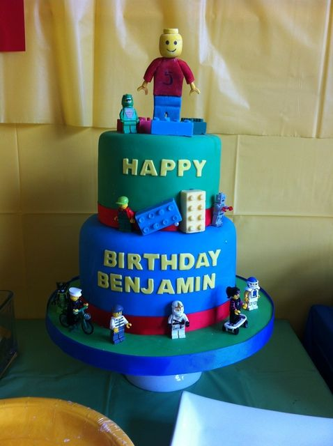 Cake at a Lego Party #legoparty #cake