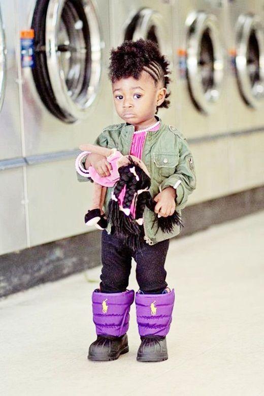So Cute African American Baby Girl