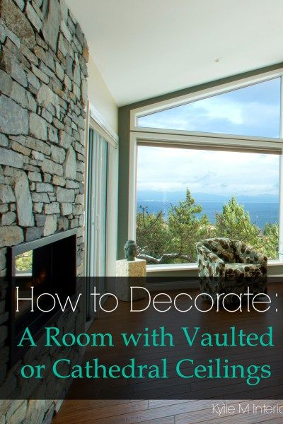 how to decorate a room with vaulted, cathedral or high ceilings. Artwork and decor ideas