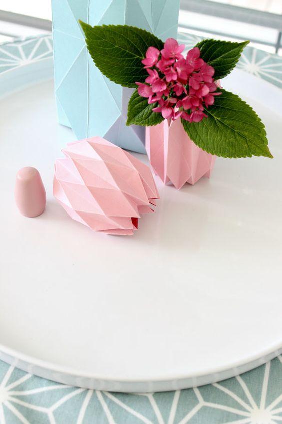 #Blumen #flowers #decoration #paperfolding #Papierfalten