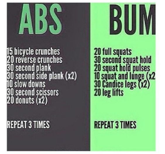 Gain Abs/Work a Bum