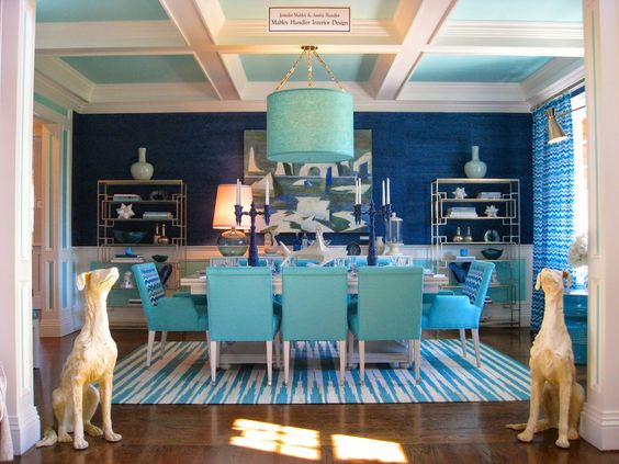 Awesome Blue Dining Room Chairs Minimalist Traditional White Ideas