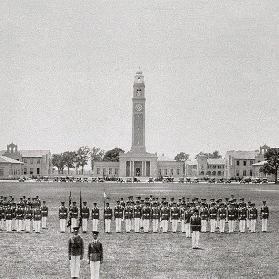 1926: #LSU ROTC on the Parade Ground.