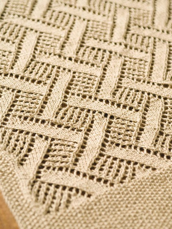Montague -- Free Berroco pattern. This diamond lace ...