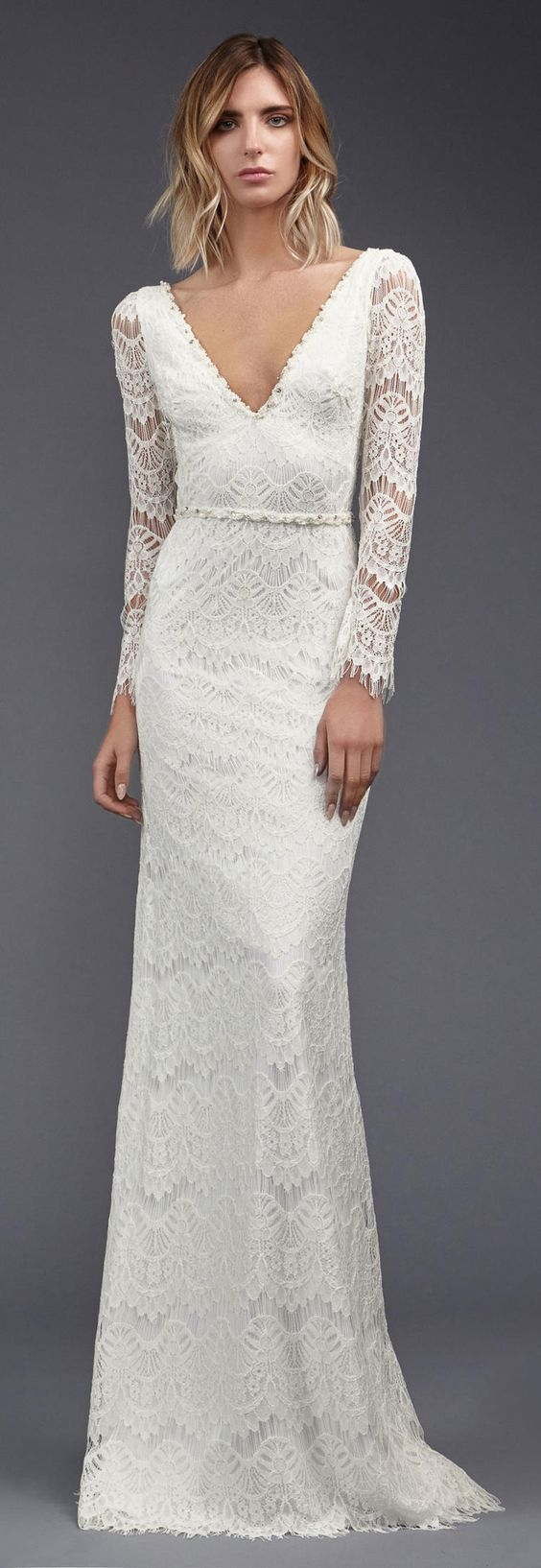 Victoria Kyriakides wedding dress 2017 - long sleeve all over crochet lace…