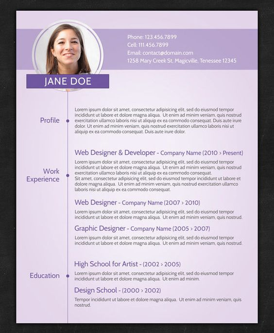 sample cv resume for freshers example creative template modern pdf