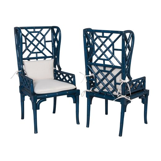 Guild Master Bamboo Wing Back Chair