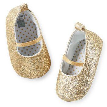 Carter S Glitter Mary Jane Crib Shoes Mini Style