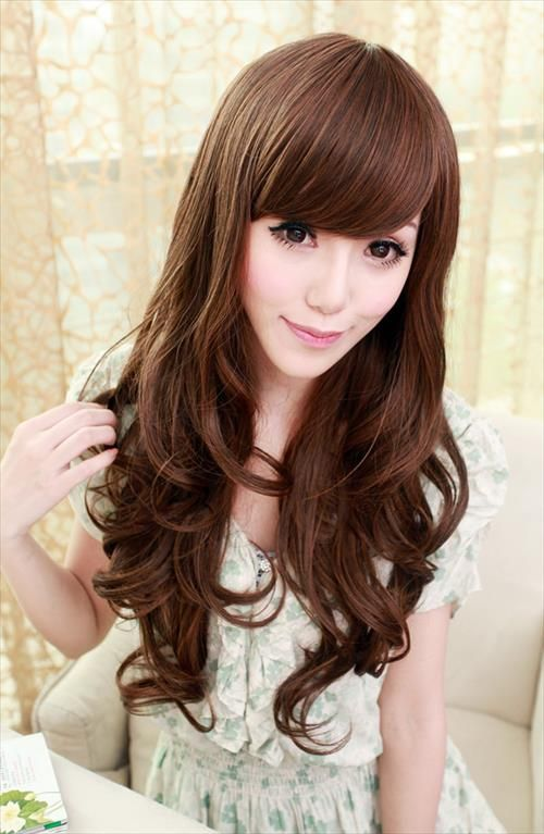 Terrific Korean Hairstyles Hairstyles And Korean Girl On Pinterest Hairstyle Inspiration Daily Dogsangcom