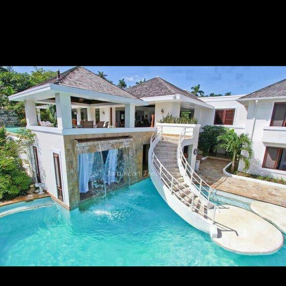 This should be half stairs and half slide beautiful for Nice houses with pools
