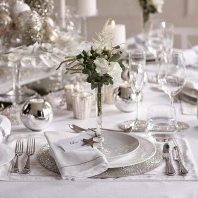 Single Bud Vase Vases The White Company In 2020 Christmas Table Decorations Luxury Christmas Decor Christmas Table Decorations Centerpiece