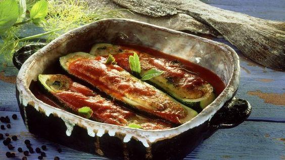 Rezept: Gefüllte, gebackene Zucchini
