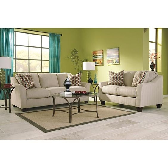 The 2 Piece Living Room Package Has An 82 Quot Sofa And A 60
