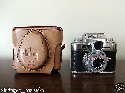 Bolsey Model C Twin Lens Reflex TLR 35mm Camera with Original Case 1950 Model | eBay