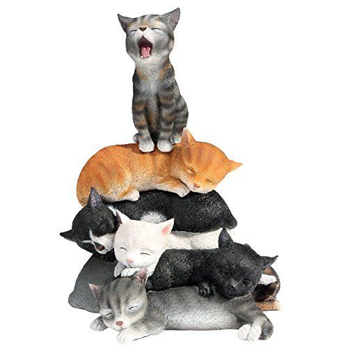 Adorable Cat Nap Stack Figurine - Exclusive From What On Earth, http://www.amazon.com/dp/B00O9VPS3K/ref=cm_sw_r_pi_awdm_SO6Iwb0VSC45N: