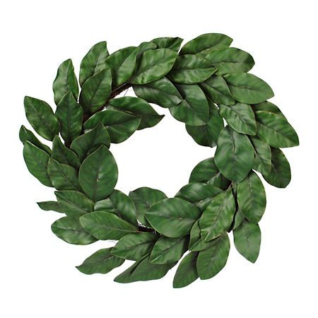 Green Magnolia Leaf Wreath, 24 in. | Kirklands