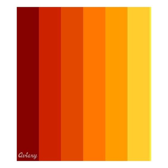 Fire Red Orange Yellow Palette Made In Aviary Color