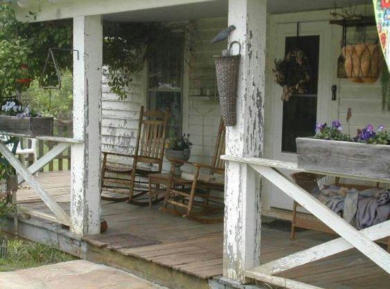 Farmhouse front porch porch deck balcony pinterest for Country porch catalog