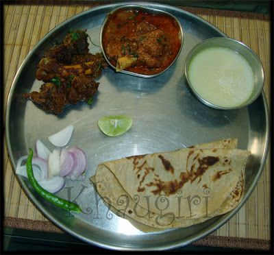 Khaugiri:Kolhapuri Thali- Tambda Rassa (Red Mutton curry ...