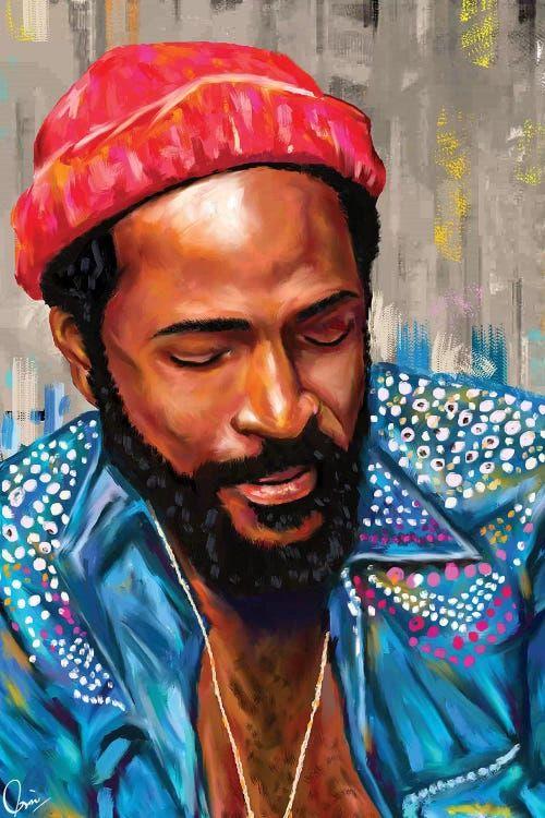 Marvin Gaye Canvas Art Print By Crixtover Edwin Icanvas In 2021 Marvin Gaye Canvas Art Prints African American Art