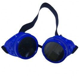 Lunettes Goggles Cyber Gothique Goth Bleu