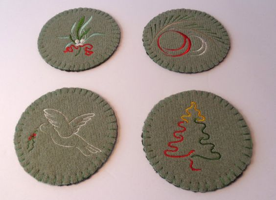 Festive Holiday coasters for the party hostess!