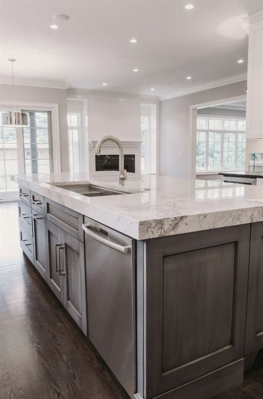 Island Countertop Thick Island Countertop Kitchen Island With Thick Kitchen Design Kitchen Cabinet Design Kitchen Island Design