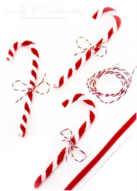 Pipe Cleaner Candy Canes - by Craft  Creativity