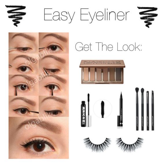 """Easy Beauty: Eyeliner"" by allylubas ❤ liked on Polyvore featuring beauty, Clinique, Urban Decay, Buxom and Japonesque"