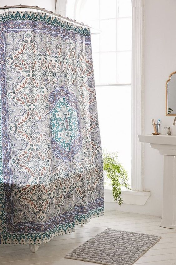 Plum Bow Anza Tiled Medallion Shower Curtain I 39 M Home Pinterest Brown Showers And Color